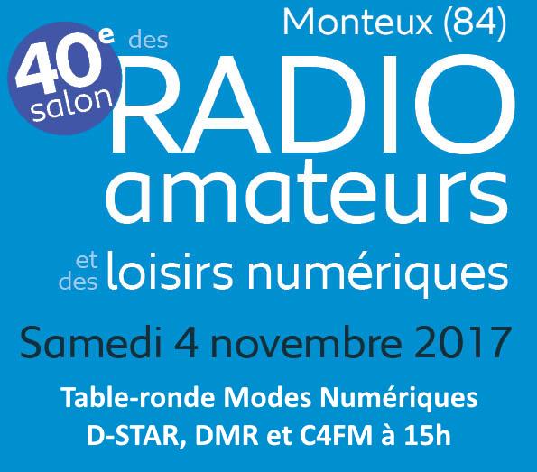 Open-DMR à Monteux 2017 et table-ronde sur les modes numériques D-Star, DMR et C4FM