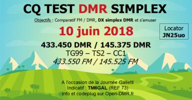 Sud-Est : CQ TEST simplex DMR à la Journée Galletti 10 juin 2018